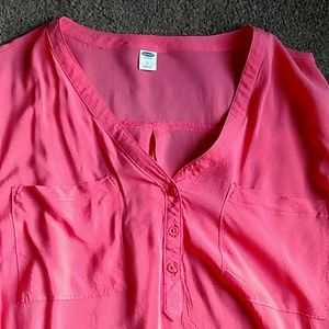Old Navy Pink Popover Blouse
